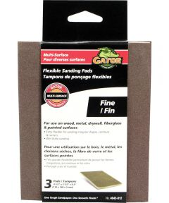 Gator Fine Grit Flexible Sanding Pads, 4-1/2 in. x 5-1/2 in. x 0.2 in., 3 Pack