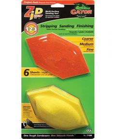 Gator Assorted Grit Multi-Surface Zip Sander, 6 in. x 3 in., 6 Pieces