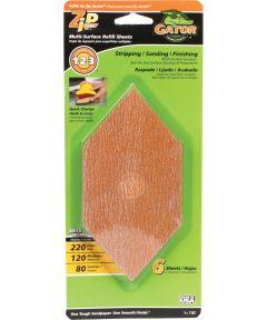 Gator Assorted Grit Zip Sander Refill Sandpaper Sheets, 6 Pack