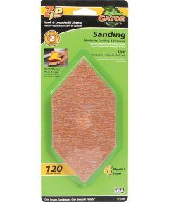 Gator 120 Grit Zip Sander Step-2 Hook & Loop Refill Medium Sandpaper, 6 in. x 3 in., 6 Pack