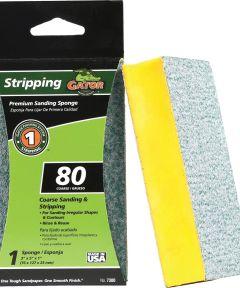 Gator 80 Grit Premium Step-1 Coarse Sanding Sponge for Stripping, 3 in. x 5 in. x 1 in.