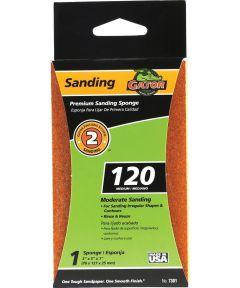 Gator 120 Grit Premium Step-2 Medium Sanding Sponge, 5 in. x 3 in. x 1 in.