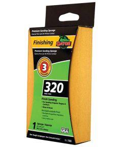 Gator 320 Grit Premium Step-3 Fine Sanding Sponge for Finishing, 3 in. x 5 in. x 1 in.
