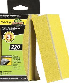 Gator 220 Grit Step-3 Angled Fine Sanding Sponge, 3 in. x 5 in. x 1 in.