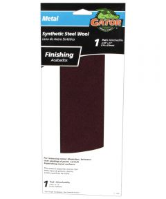 Gator Metal-Surface Synthetic Steel Wool Finishing Pad, 11 in. x 4-1/2 in.