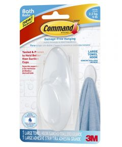 Command Large Frosted Towel Hook