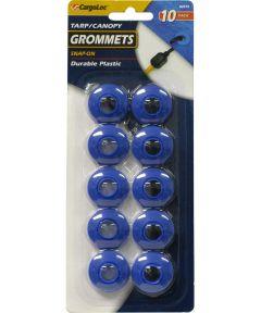 Blue Plastic Tarp/Canopy Grommets 10 Count