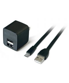 2.4 Amp Iessentials Dual USB Wall Charger With Micro-USB