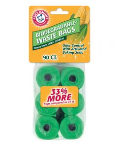 Arm & Hammer Biodegradable Pet Waste Bag Refills, 90 Count