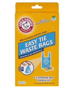 Easy Tie Waste Bags 75 Ct