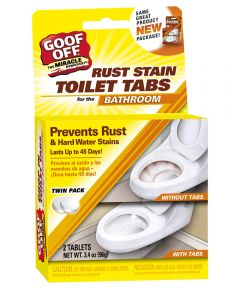 Goof Off Rust Stain Toilet Tabs 2 Count