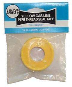 Yellow Gas Line Ptfe Thread Seal Tape