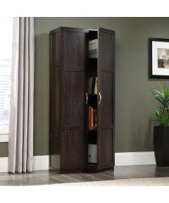 6 Shelf Storage Cabinet, Cinnamon Cherry Finish
