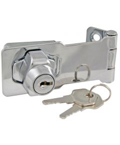 3 in. Chrome Plated Lock With Hasp