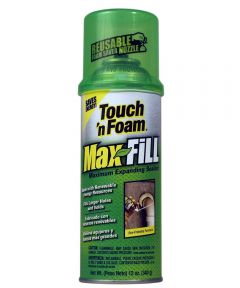 Touch 'n Foam Max Fill Expanding Sealant, 12 oz.
