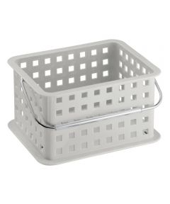 9.25 in. x 7 in. x 5 in. Light Gray Spa Basket