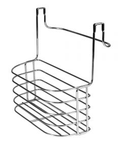 11.25 in. x 11 in. Chrome Duo Over The Cabinet Towel Bar & Medium