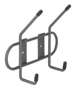 6.25 in. x 5.25 in. Industrial Gray Wall Mount 2-Double Hook Rack