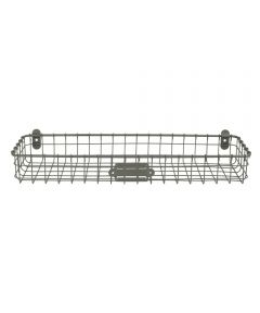 18.5 in. x 6 in. x 3 in. Gray Vintage Wall Mount Tray