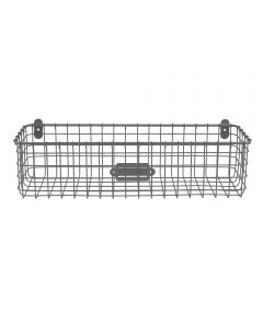 18.5 in. x 6 in. x 5.25 in. Gray Vintage Wall Mount Tray