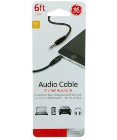 6 ft. 3.5 Mm Auxiliary Audio Cable