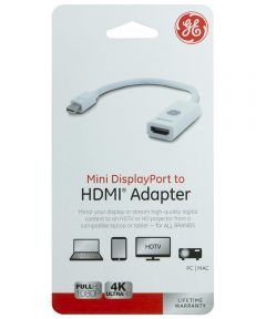 White Mini Display Port to HDMI Adapter