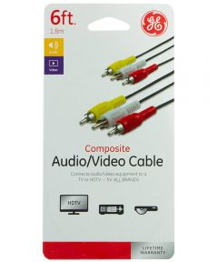 6 ft. Audio/Video Composite Cable