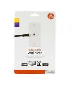 Video Cable Wall Plate, White