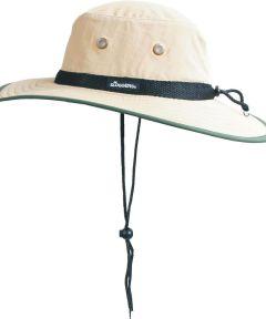 Tan & Dark Green Nylon Sun Hat