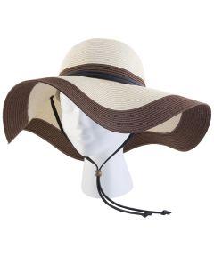 Medium Coffee Creme Floppy Hat