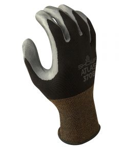 13-Gauge X-Large Black/Dark Gray Nitrile Palm Coating Seamless Knit Gloves