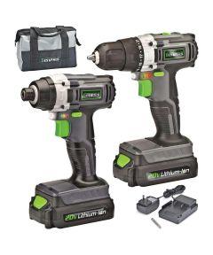 Genesis 20V Lithium-Ion Drill & Impact Driver Combo Kit