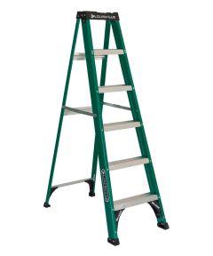 Louisville 6 ft. Standard Fiberglass Step Ladder, 225 lb. Load