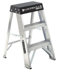 Louisville 2 ft. Industrial Aluminum Step Stool Ladder, 300 lb. Load