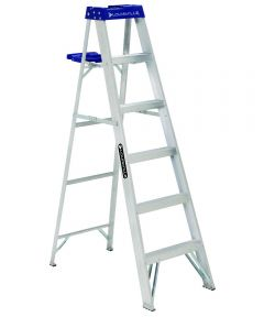 Louisville 6 ft. Standard Aluminium Step Ladder with molded pail shelf, 250 lb. Load