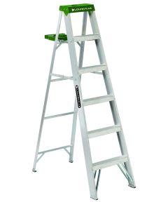 Louisville 6 ft. Standard Aluminium Step Ladder with molded pail shelf, 225 lb. Load
