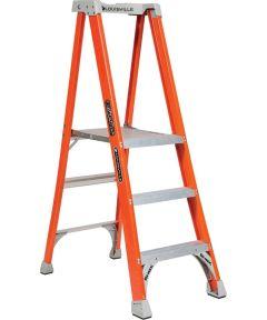 Louisville 3 ft. Platform Pinnacle Fiberglass Platform Step Ladder, 300 lb. Load