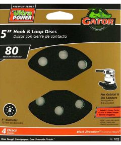 5 in. Premium 8 hole Hloop 80#, 4 Pack