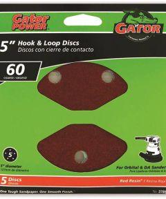 5 in. 60grit 5hole Hk/loop 5 Pack