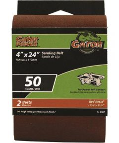 4x24 in. 50 Grit Aluminum Oxide Belt 2 Pack
