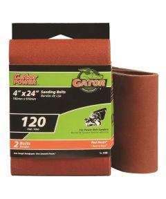 4x24 in. 120 Grit Aluminum Oxide Belt 2 Pack