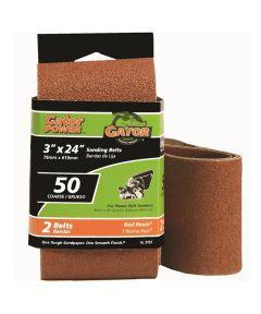 3x24 in. 50 Grit Aluminum Oxide Belt 2 Pack