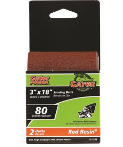 3x18 in. 80 Grit Aluminum Oxide Belt 2 Pack