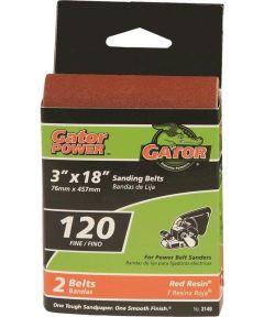 3x18 in. 120 Grit Aluminum Oxide Belt 2 Pack