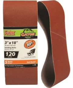 3x18 in. 120 Grit Aluminum Oxide Belt 5 Pack