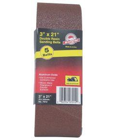 3x21 in. 80 Grit Aluminum Oxide Belt 5 Pack