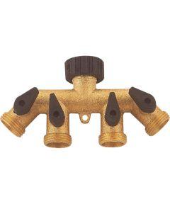 Manifold Faucet Brass 4way