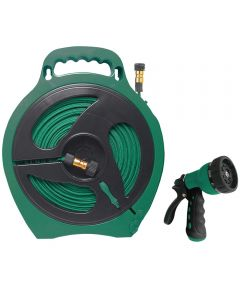 50 ft. Hose Reel Flat with 1 Nozzle 1 Male Adapter