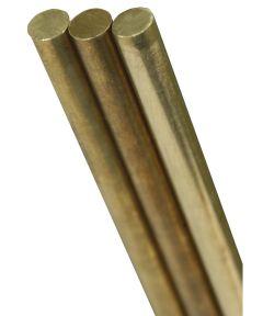 K & S Round Rod, 0.02 in. Dia x 12 in. L, Solid Brass