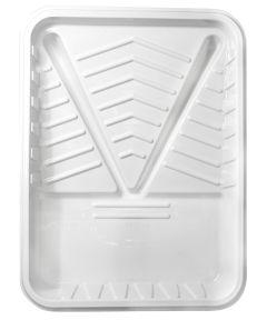 "9"" White Plastic Paint Roller Tray Liner"